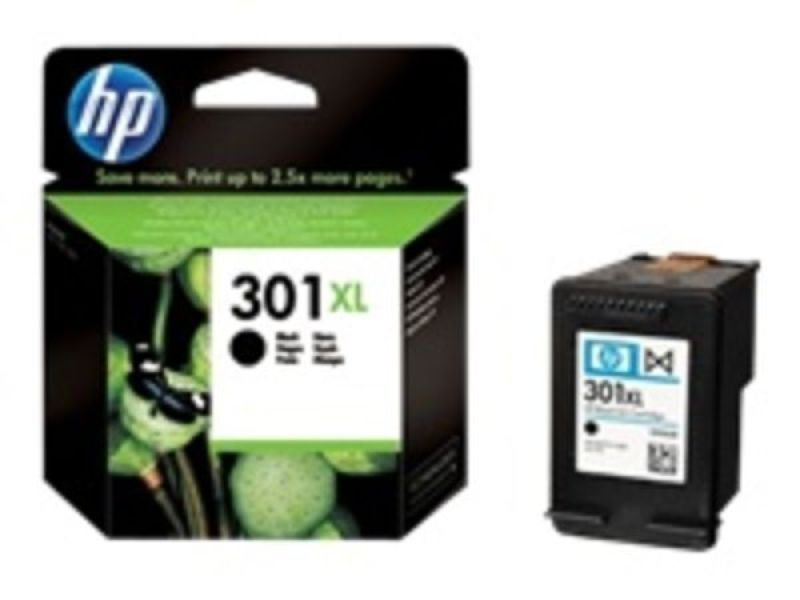 *HP 301XL Black Ink Cartridge - 480 Pages