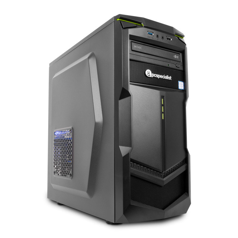 PC Specialist Vanquish Venom Ti Gaming PC Intel Core i37300 4GHz 8GB DDR4 1TB HDD DVDRW NVIDIA GTX 1050Ti 4GB WIFI Windows 10 Home