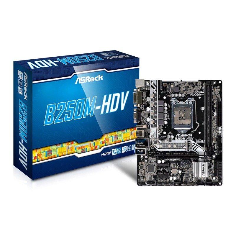 Asrock B250MHDV Intel Socket 1151 mATX Motherboard