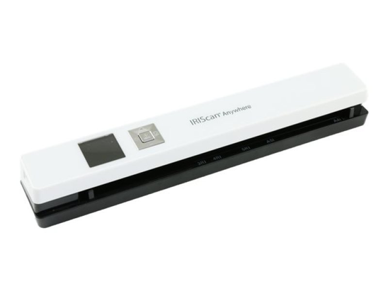 IRIScan Anywhere 5 White - 8PPM -  Scan anything, anywhere. No computer needed. Battery Powered Portable Scanner. Scan up to 100 A4 documents on battery mode. Scan directly to JPEG/PDF. Scanning resolutions: 300/600/1200 dpi. Directly save scans into your