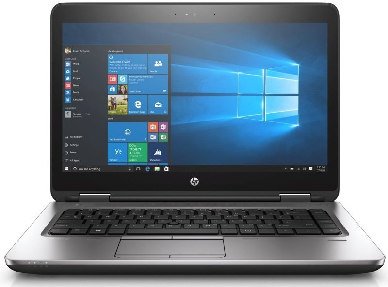 HP ProBook 640 G3 Laptop Intel Core i57200U 2.5GHz 4GB DDR4 500GB HDD 14&quot LED DVDRW Intel HD WIFI Webcam Bluetooth Windows 10 Pro