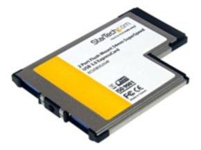 StarTech.com 2 Port Flush Mount ExpressCard USB 3.0 Card Adapter with UASP
