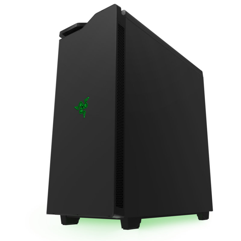NZXT H440 New Edition Black  Green Chassis  Designed by Razer