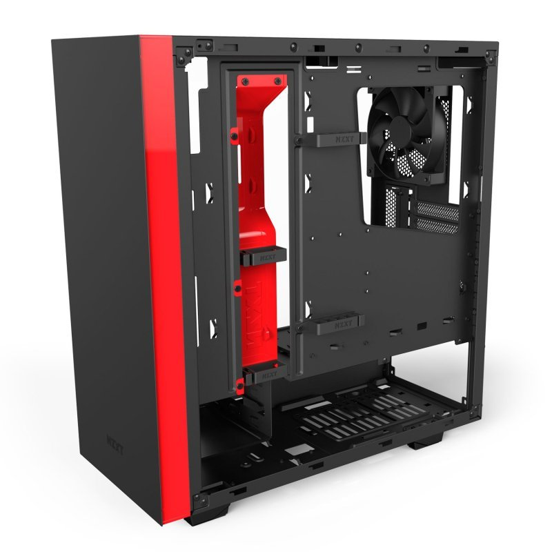 NZXT S340 Elite Black/Red Gaming Case with HDMI VR Support
