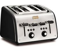 Tefal 4 Slice Maison Toaster Chalkboard Black