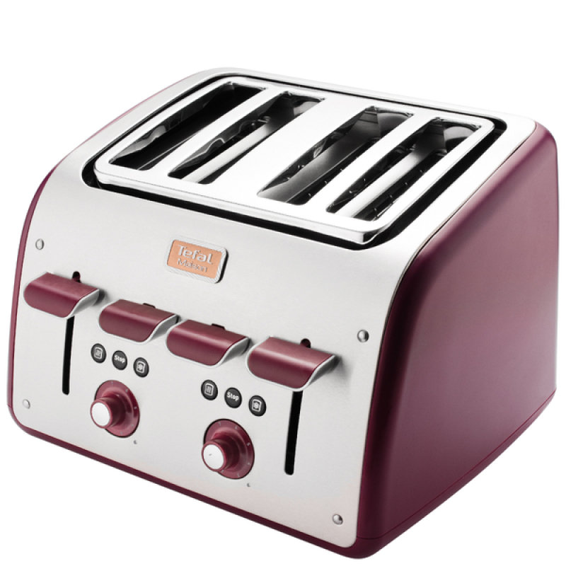 Tefal 4 Slice Maison Toaster Pomegranate Red