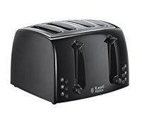 Russell Hobbs Textures 4 Slice Toaster Black