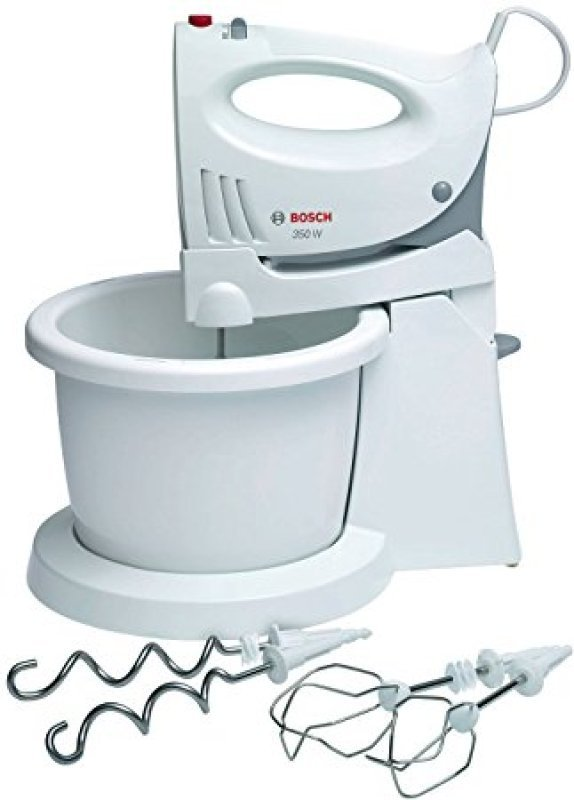 Image of Bosch 350W Hand and Stand Mixer White