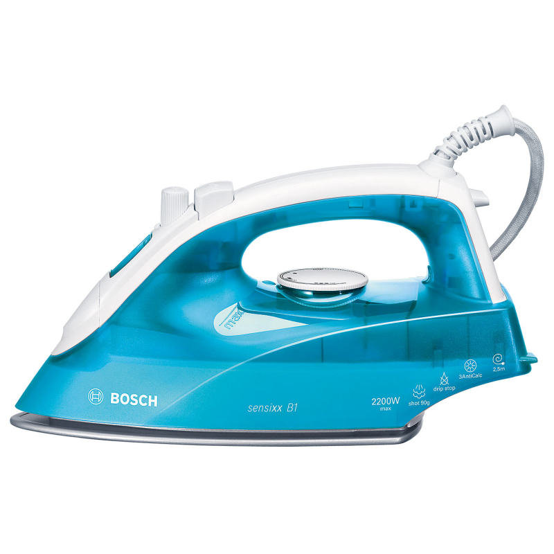 Image of Bosch 2200W Steam Iron White/Turquoise