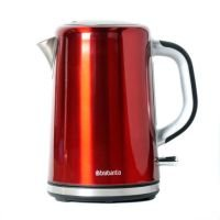 Brabantia Soft Grip Brushed Stainless Steel Red Kettle
