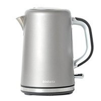Brabantia Soft Grip Brushed Stainless Steel Platinum Kettle