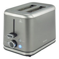 Brabantia 2 Slice Toaster Brushed Stainless Steel Platinum