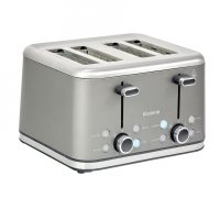 Brabantia 4 Slice Toaster Brushed Stainless Steel Platinum