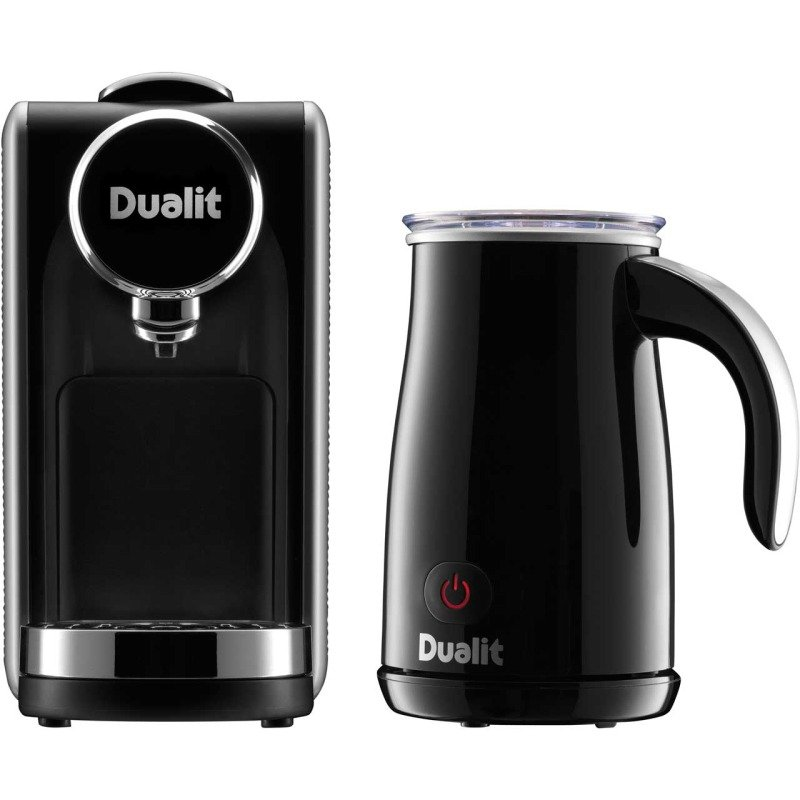 Dualit Lusso 900W Coffee Machine and Milk Frother Black