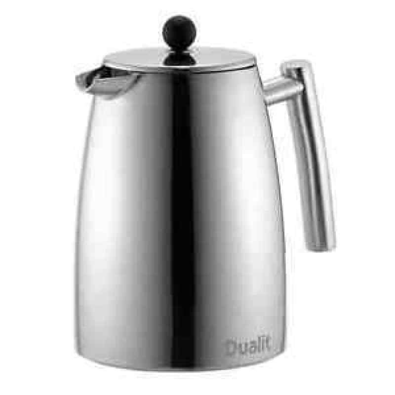dualit litre dual filter cafetiere silver ebuyer. Black Bedroom Furniture Sets. Home Design Ideas