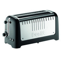 Dualit 4 Slice Long Slot Toaster Gloss Black