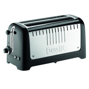Dualit 4 Slice Long Slot Toaster Gloss Black