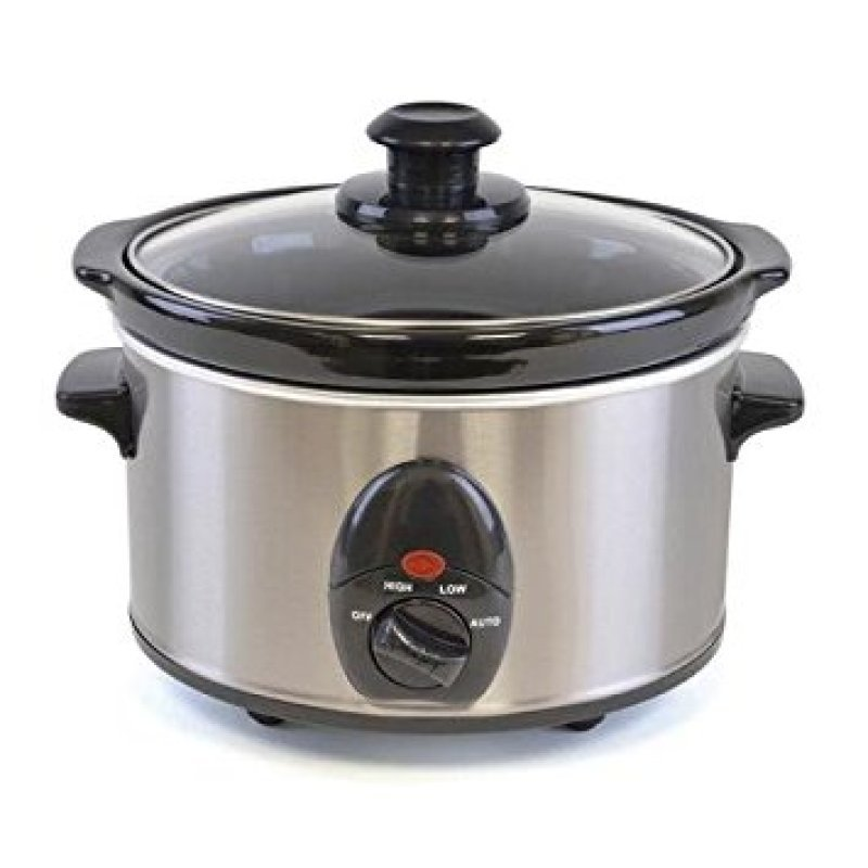 Lloytron 1.5 Litre 120W Slow Cooker Brushed Stainless Steel