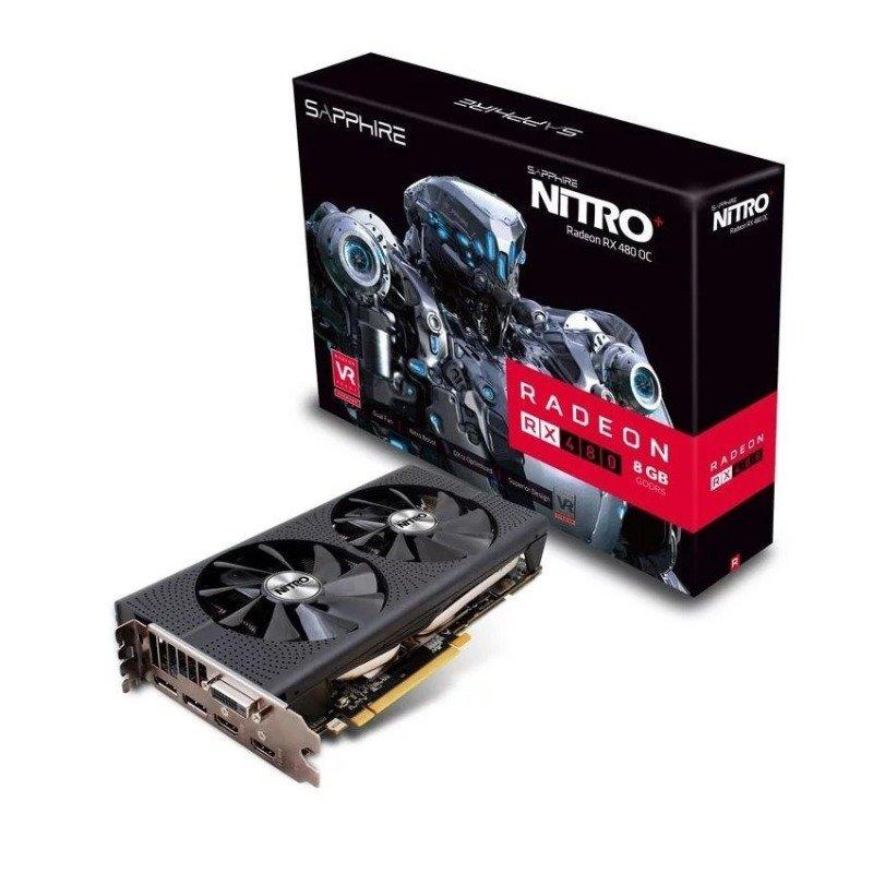 Sapphire AMD NITRO Radeon RX 480 8GB GDDR5 Graphics Card