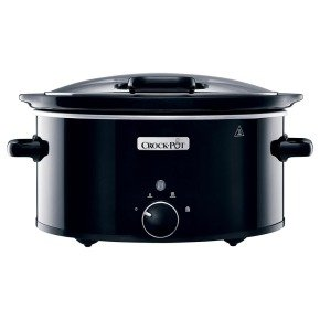Crockpot 5.7 Litre Hinged Lid Slow Cooker Gloss Black