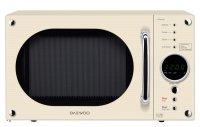 Daewoo Electronics 23 Litre 800W Retro Touch Control Microwave Cream
