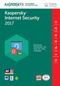 Kaspersky Internet Security 2017 3 Device 1 Year FFP
