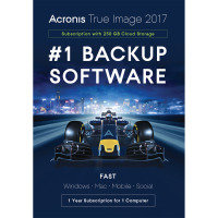 Acronis True Image 1 Computer 1 Year Subscription 250GB Cloud