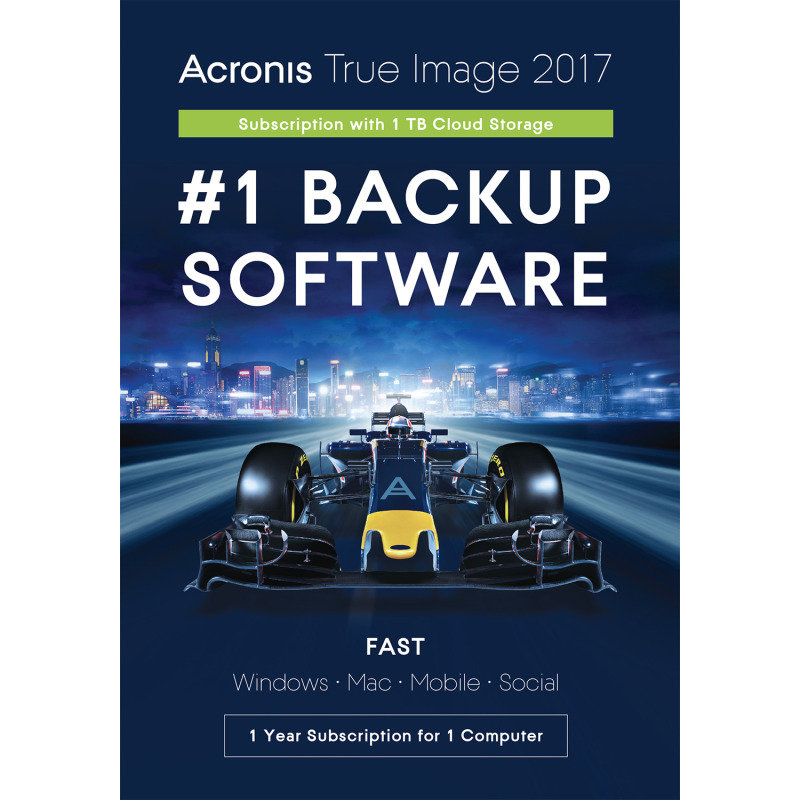 Acronis True Image 1 Computer 1 Year Subscription 1TB Cloud