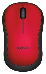 Logitech M220 Ambidextrous Wireless Silent Mouse - Red