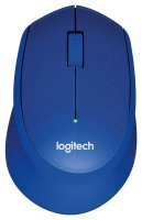 Logitech M330 Silent Plus Wireless Mouse - Blue