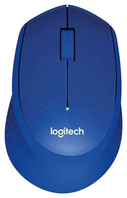 Logitech M330 Silent Plus Wireless Mouse (USB for WindowsMacChrome OSLinux)  Blue