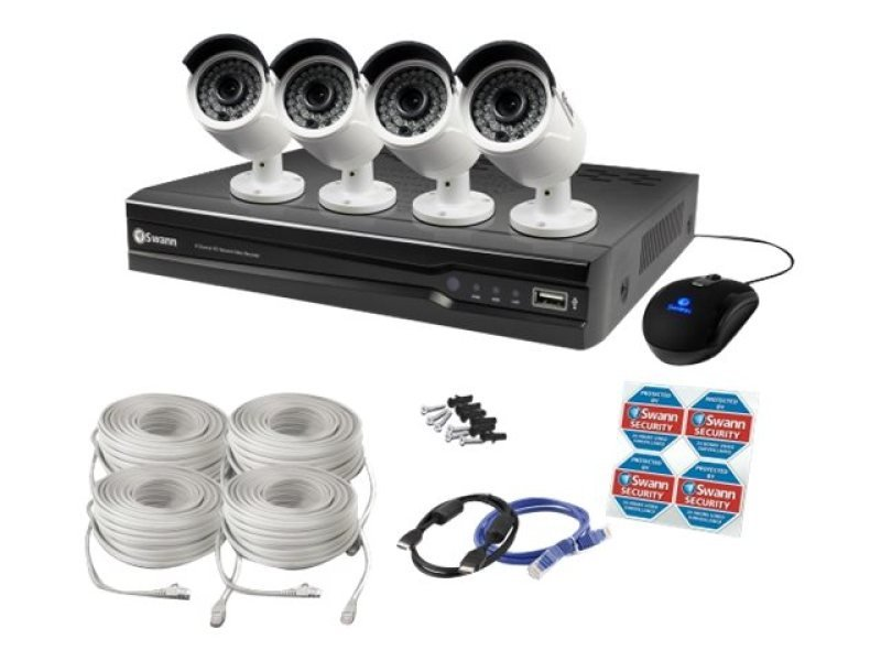 Swann NVR8-7400 8 Channel 4MP Network Video Recorder & 4 x NHD-818 4MP Cameras