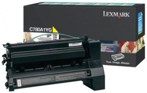 Lexmark C780, C782 Yellow Return Program Toner Cartridge