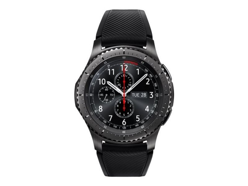 Samsung Gear S3 Frontier - 46 Mm - Black - Smart Watch With Band - Silicone - Black - 1.3 - 4 Gb - Wi-fi, Nfc, Bluetooth - 63 G