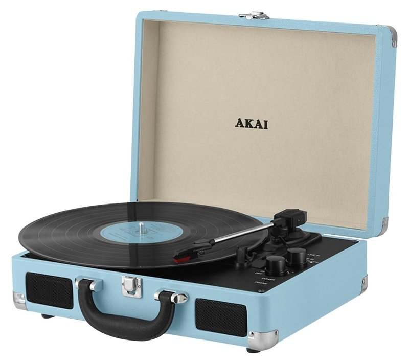 Akai Bluetooth Rechargeable Turntable and Case