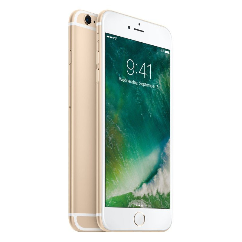 iPhone 6S 128GB Gold A9 chip with 64bit Retina HD display with 3D Touch 5.5 inch 12megapixel and facetime 5megapixel cellular and Wifi 8209Fi with MIMO Bluetooth LTE Phone