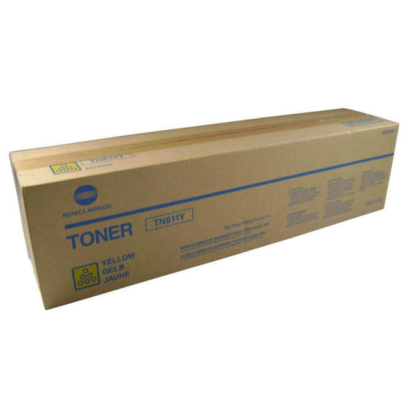 Konica Minolta TN611Y Yellow Toner Cartridge