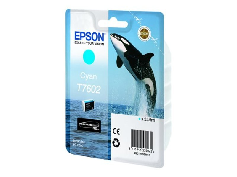 Epson T7602 Cyan Ink Cartridge