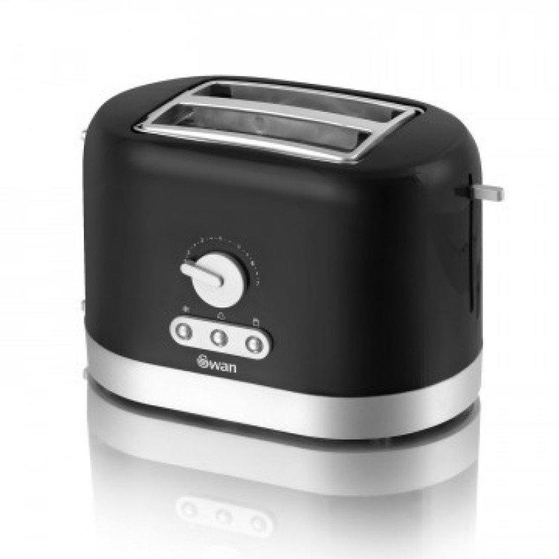 Swan ST10020BLKN Black 2 Slice Toaster