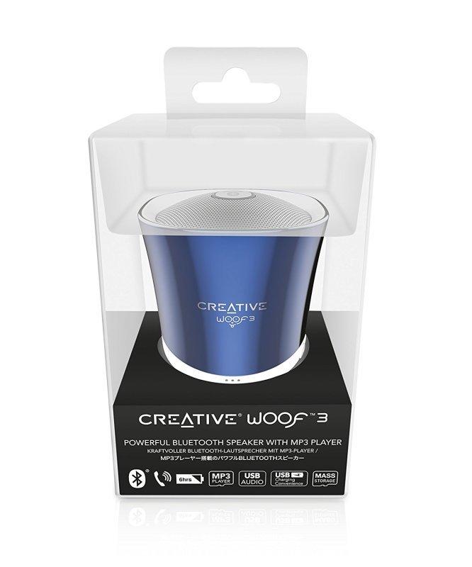Creative Woof 3 Bluetooth Wireless Speaker - Blue