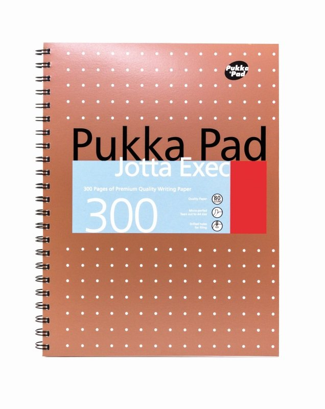 Pukka Jotta Executive A4 300 Pgs Copper- 3 pack