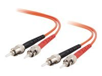 C2G ST-ST 62.5/125 OM1 Duplex Multimode PVC Fiber Optic Cable (LSZH) - Patch cable - ST multi-mode (M) - ST multi-mode (M) - 20 m - fibre optic - 62.5 / 125 micron - OM1 - halogen-free - orange