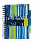 Pukka Pad A5 Project Book Hardback Assorted - 3 Pack