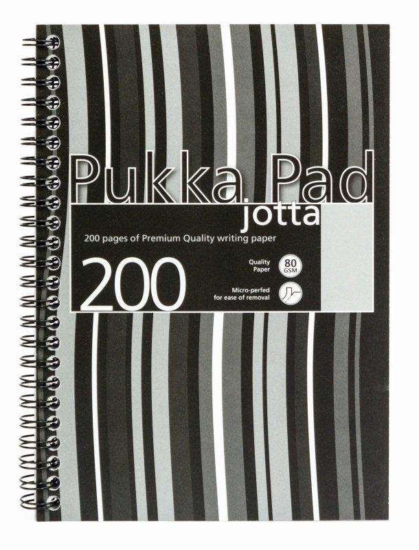 Pukka A5 Jotta Poly Cover Black Stripy - 3 Pack