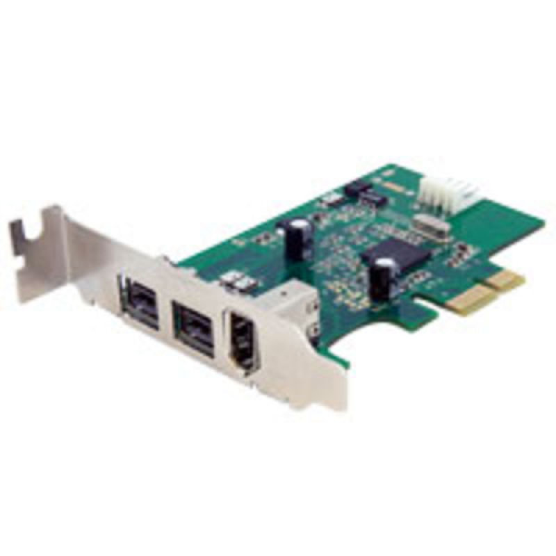 StarTech.com 3 Port 2b 1a Low Profile 1394 PCI Express FireWire Card Adapter  PCI Express 1394a  PCIe FireWire 400 Card