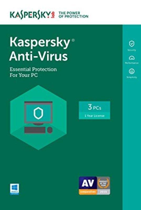 Kaspersky Anti-virus 2017 1 Year 3 Computers - FFP