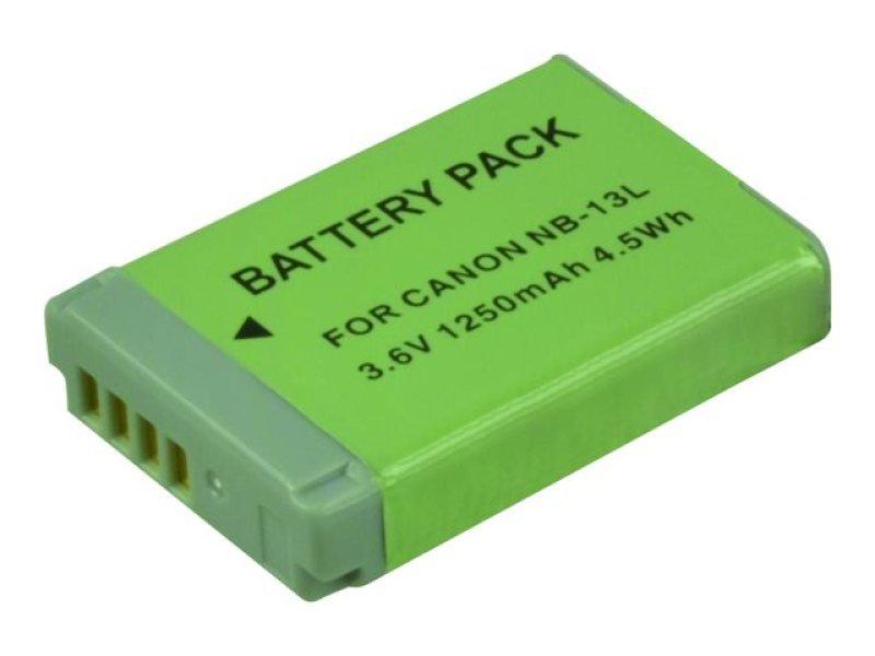 Image of 2-Power - Camera battery Li-Ion 1250 mAh - for Canon PowerShot G5 X, G7 X, G9 X, G9 X Mark II, SX620 HS, SX720 HS