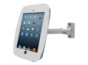 Maclocks iPad Secure Space Enclosure with Swing Arm Kiosk White - Mounting kit ( mounting adapter, anti-theft enclosure ) for Apple iPad Pro ( Tilt & Swivel ) - lockable - high-grade aluminium - white - for Apple 12.9-inch iPad Pro