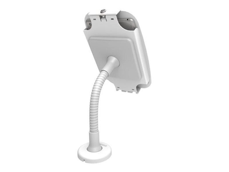 Maclocks iPad Secure Space Enclosure with Flex Arm Kiosk White - Mounting kit ( desk stand, anti-theft enclosure, VESA adapter ) for Apple iPad Pro - lockable - high-grade aluminium - white - for Apple 12.9-inch iPad Pro