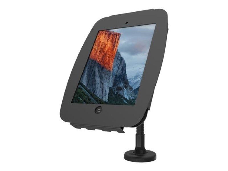 Maclocks iPad Secure Space Enclosure with Flex Arm Kiosk Black - Mounting kit ( desk stand, anti-theft enclosure, VESA adapter ) for Apple iPad Pro - lockable - high-grade aluminium - black - for Apple 12.9-inch iPad Pro